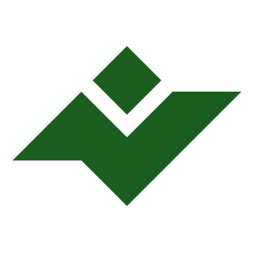 لوگوی جنگل با پس زمینه سفید