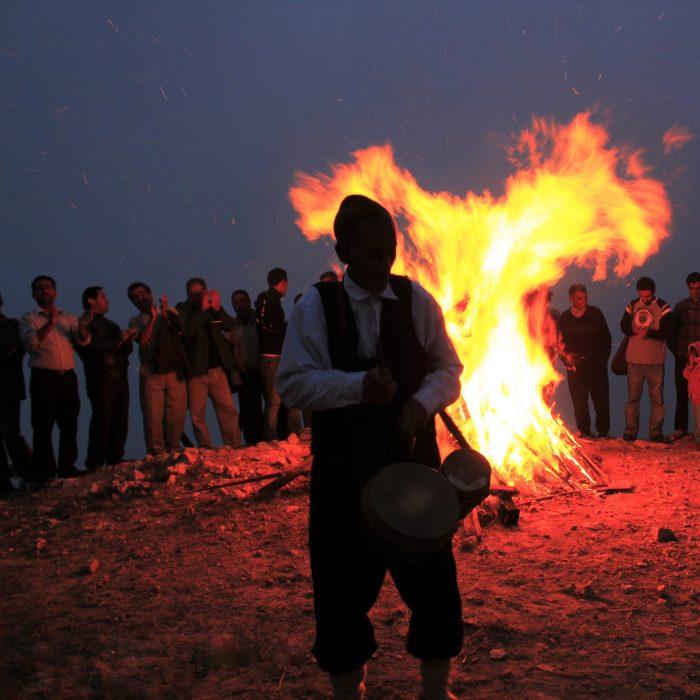 عید نوروزبل گیلان آتش مردم